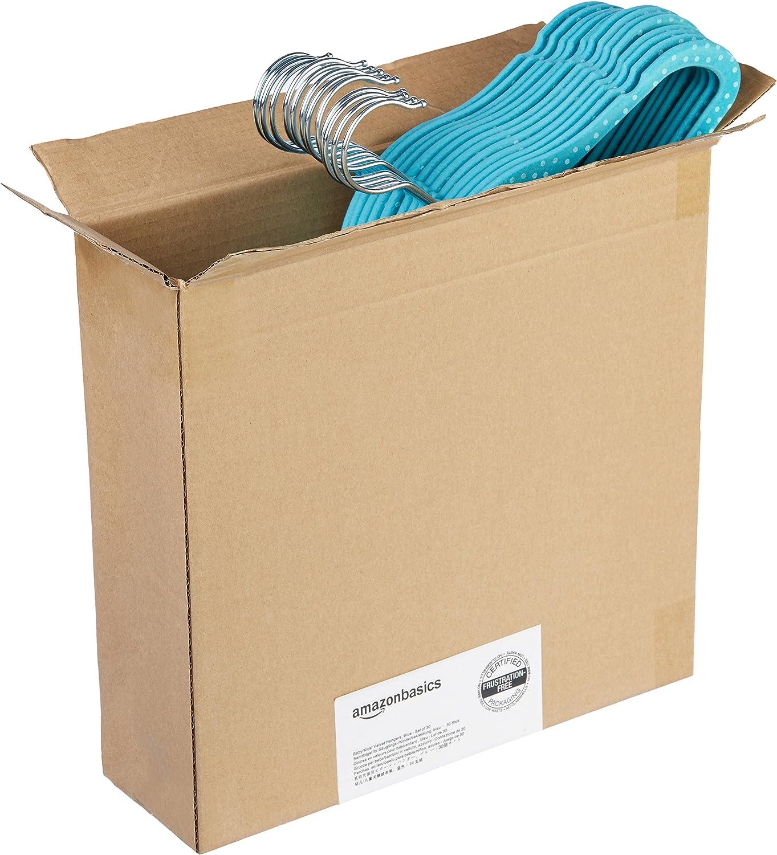 Basics Kids Velvet Non-Slip Clothes Hangers Purple 30-Pack