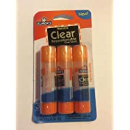 Elmer's Washable Clear Repositionable Glue Sticks - 3 Pack (0.28 Ounces each)