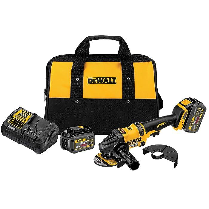 DEWALT DCG414T2 60V MAX 2 Battery FLEXVOLT Grinder with Kickback Brake Kit