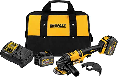 DEWALT FLEXVOLT 60V MAX Angle Grinder with Kickback Brake Kit, 2 Batteries (DCG414T2)