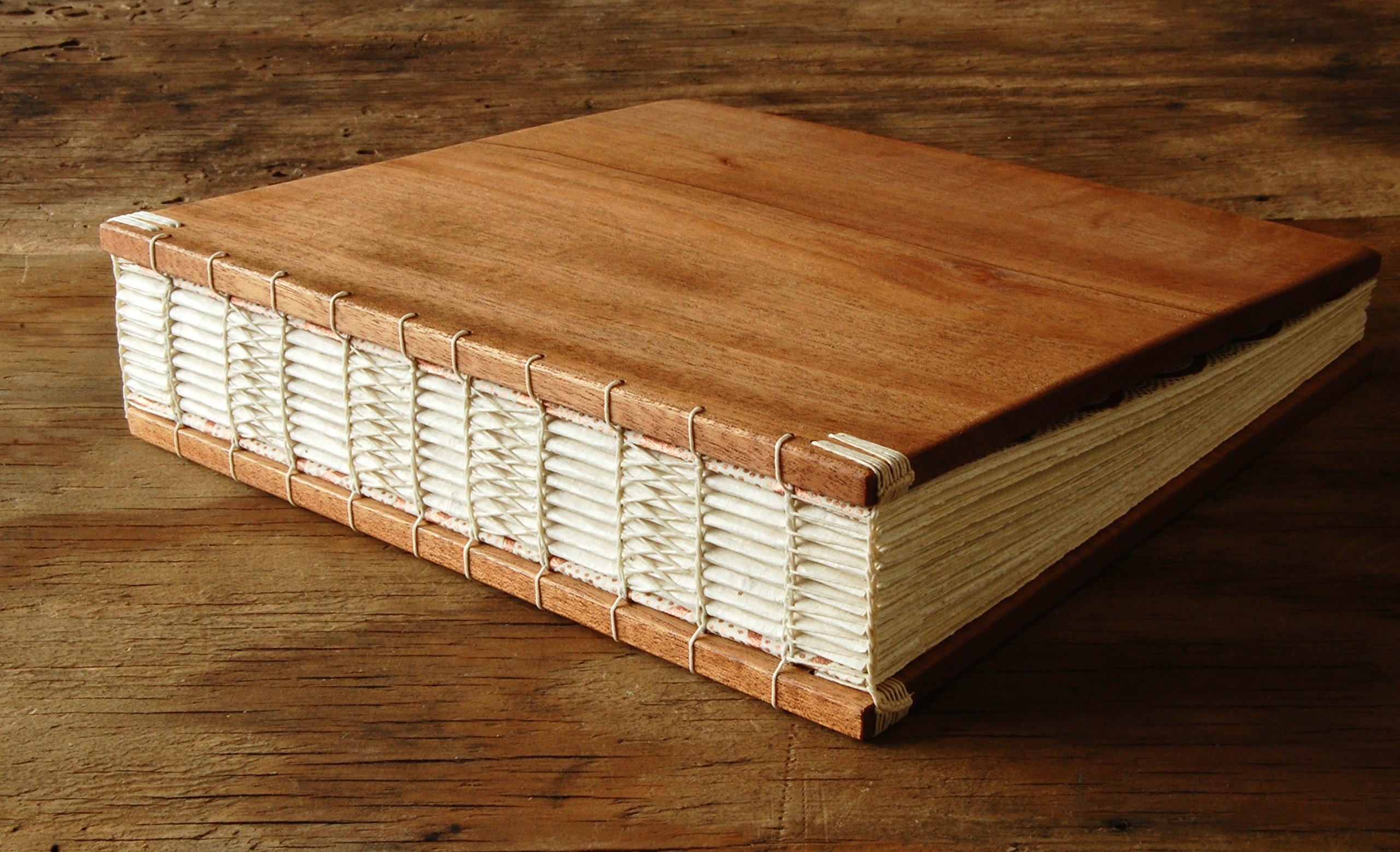 Handmade Instant Photo Wedding Guest Book or Scrapbook - Mahogany Wood