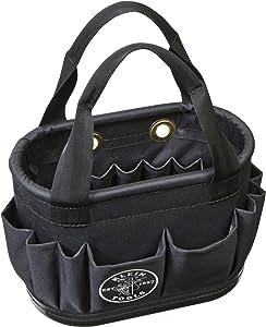 Aerial Bucket, Hard-Body Lineman Bucket, 29 Pockets, Heavy Duty Oval Bucket Bag Klein Tools 5144BHB14OS