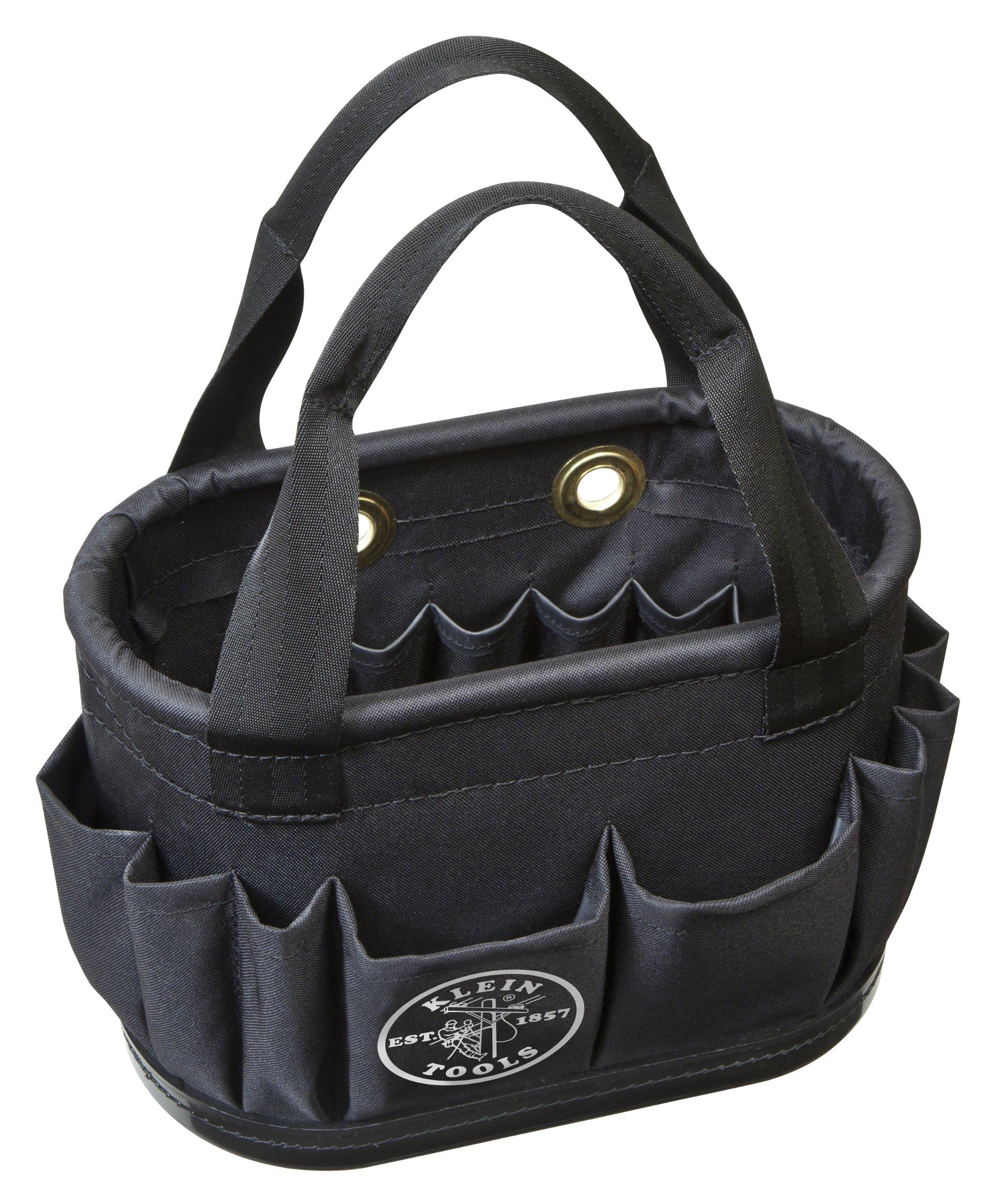 Aerial Bucket, Hard-Body Lineman Bucket, 29 Pockets, Heavy Duty Oval Bucket Bag Klein Tools 5144BHB14OS by Klein Tools
