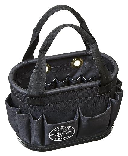 ba985dbae48a9 Aerial Bucket, Hard-Body Lineman Bucket, 29 Pockets, Heavy Duty Oval Bucket  Bag Klein Tools 5144BHB14OS - Tool Pouches - Amazon.com