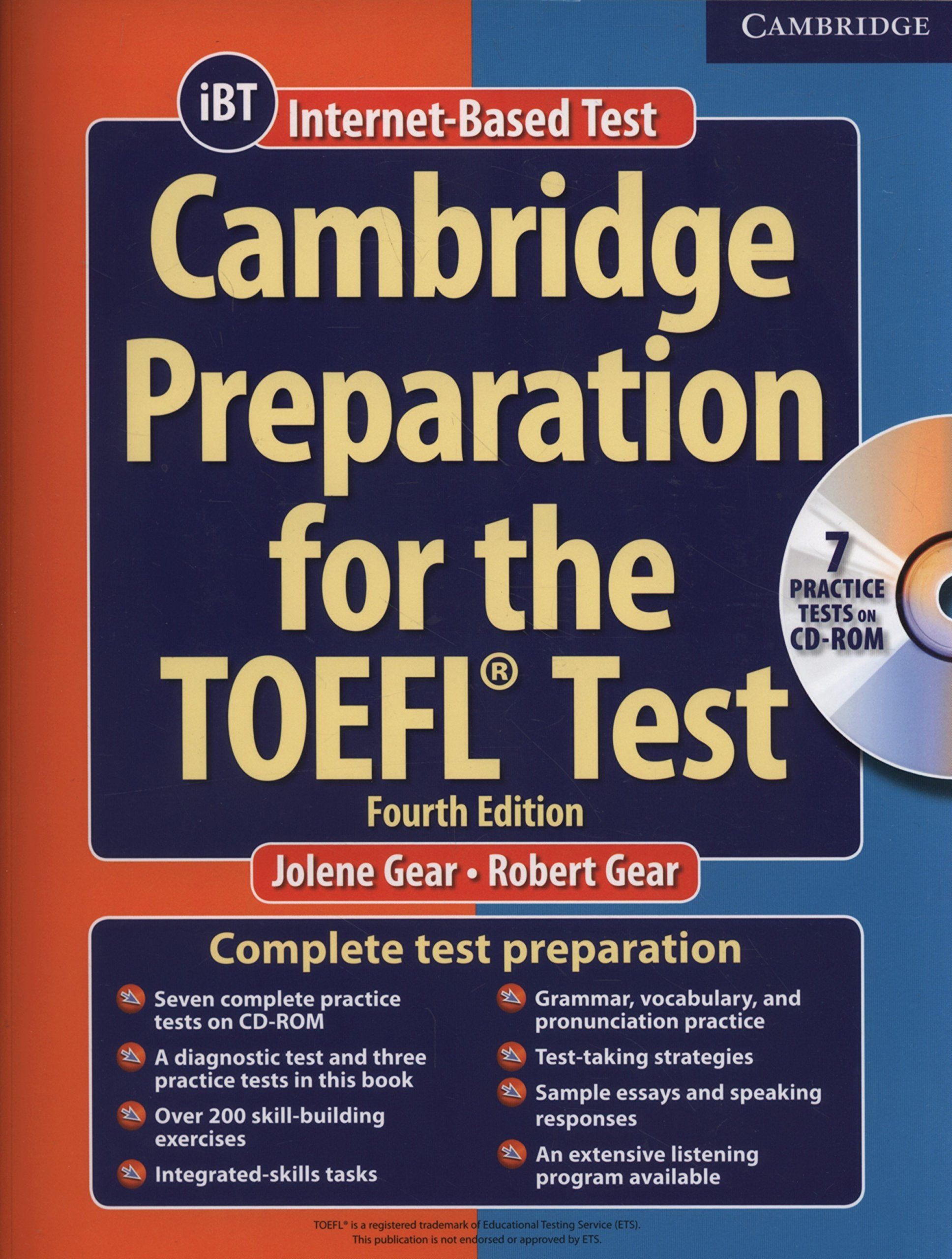 Toefl the preparation cambridge test book for