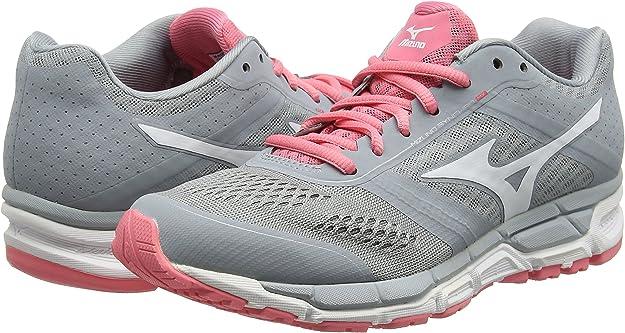 Mizuno Mizuno Synchro Mx - Zapatillas de running Mujer, color Gris - Grey (Quarry/White/Strawberry Pink), talla 43 EU (9 UK): Amazon.es: Zapatos y complementos