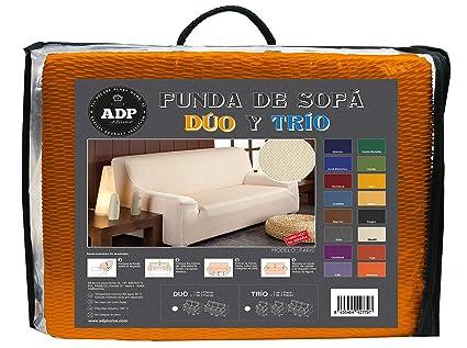 ADP Home - DÚO de Fundas/Protectores de Sofá de Alta Elasticidad: 1 Funda de 2 Plazas (de 120 a 190 cm) +1 Funda de 3 Plazas (de 180 a 240 cm), ...