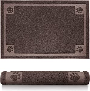 SHUNAI Pet Feeding Mat for Dogs and Cats Extra Large Flexible and Waterproof Pet Food and Water Bowl, Easy to Clean Dog Food Mat Floors with Non Slip Back …
