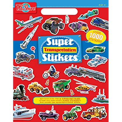 Shure Products Transportation Super Stickers: Toys & Games