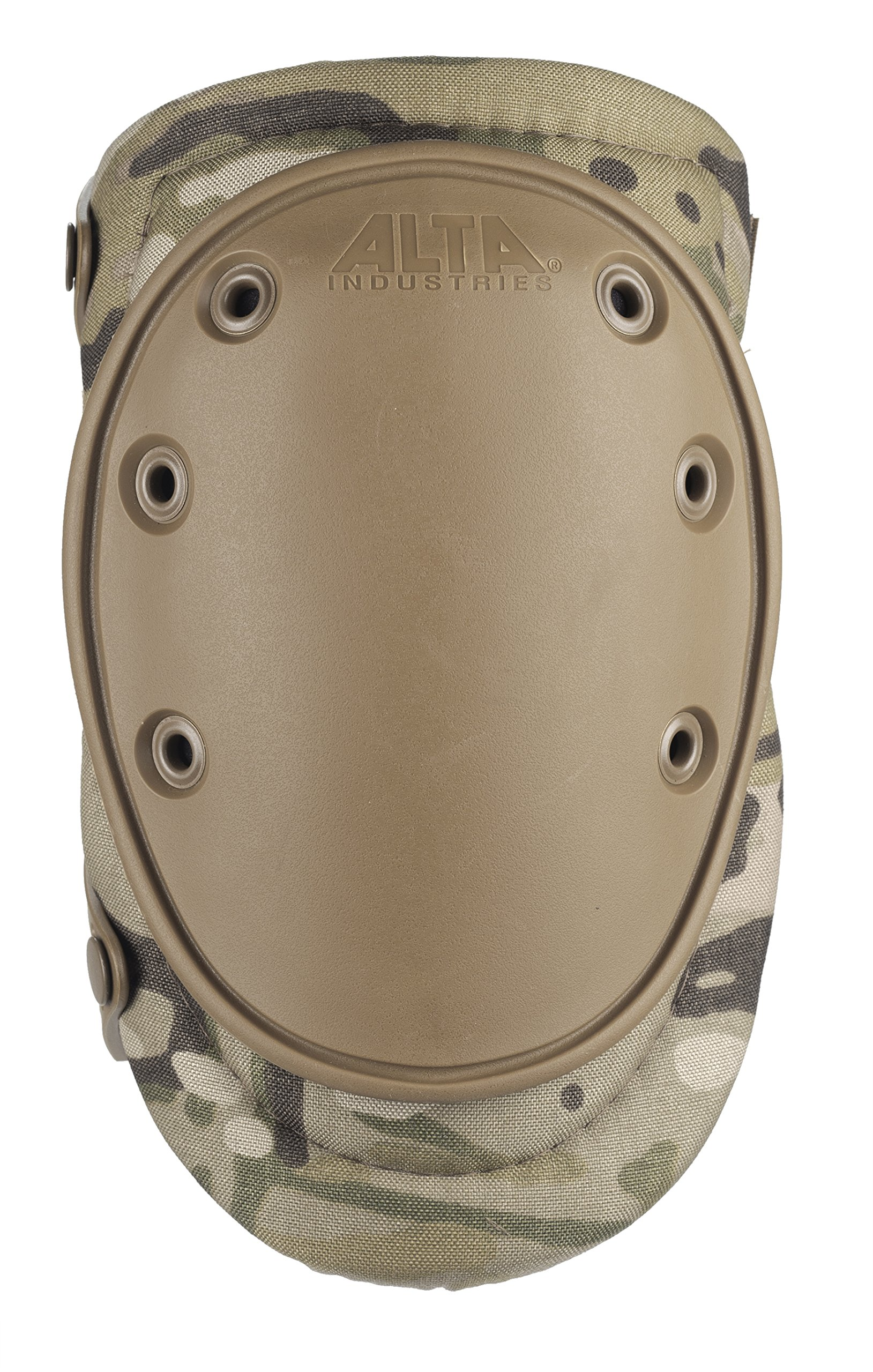 ALTA 50453.16 AltaFLEX Gel Insert Heavy Duty Knee Protector Pad, MultiCAM Cordura Nylon Fabric, AltaLOK Fastening, Flexible Cap, Long, Coyote