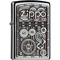Zippo Gear Wheels Mechero, Metal, Satin Chrome, 3.5x1x5.5