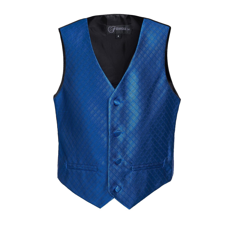 Ferrecci Boys Premium Vest Hankie Necktie Bow Tie Set KIDVEST300