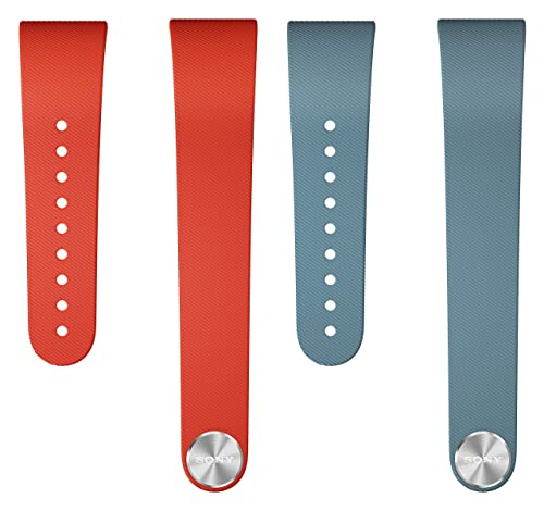 Sony Mobile Small Wrist Spare/Replacement Strap for Sony SmartBand Talk - Red/Blue