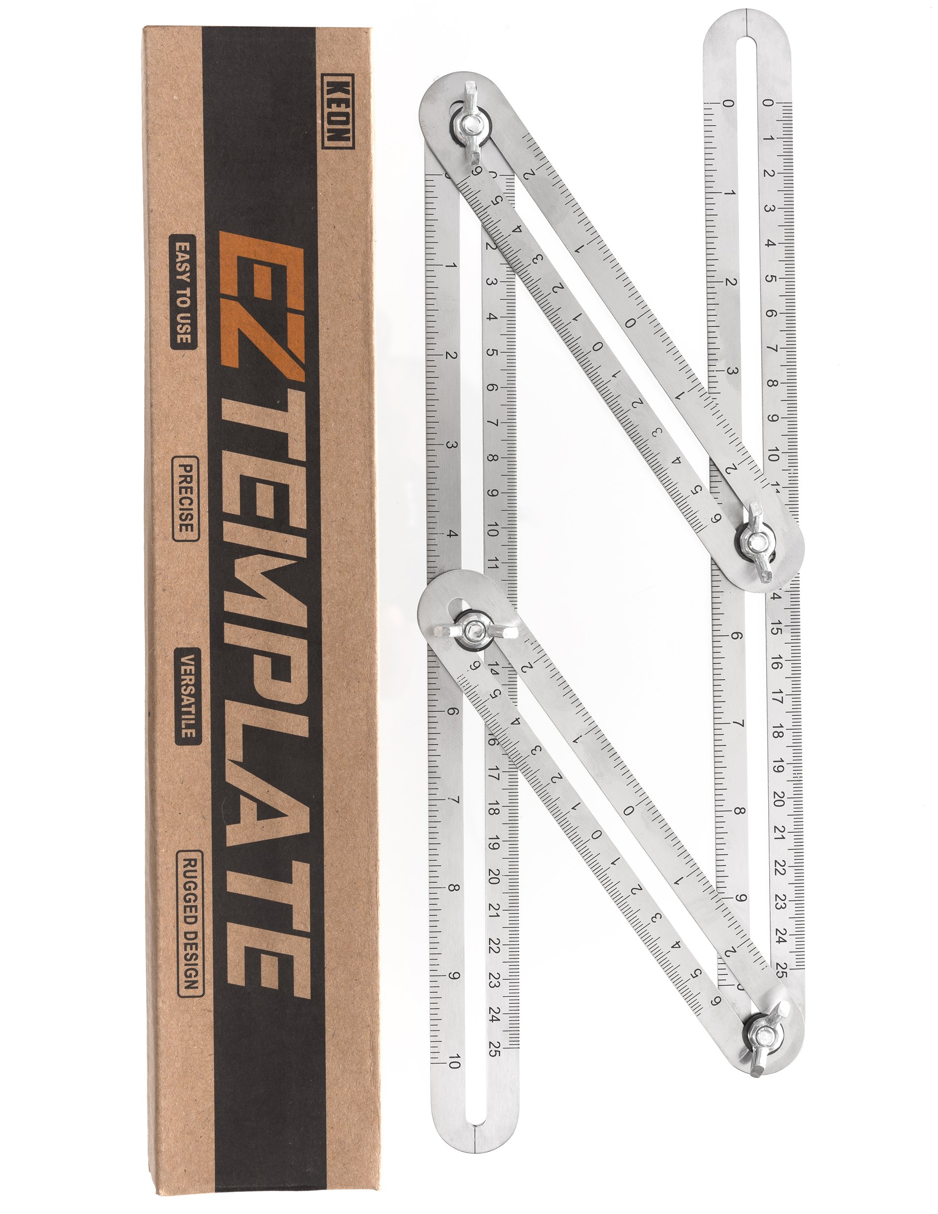 KEON Angleizer Template Tool - Premium Grade Stainless Steel - Great for Flooring, Tiling, Carpentry & Much More