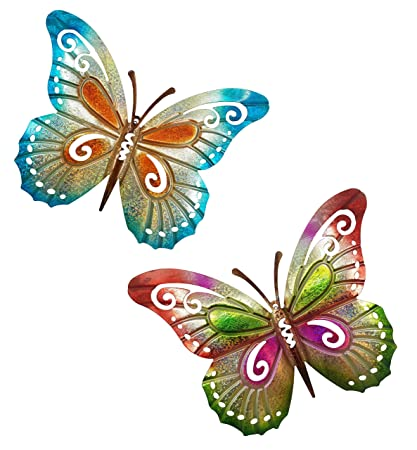 Amazon Com Osw Butterfly Outdoor Garden Wall Decor Or Indoor Living