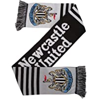 Newcastle United FC Official Knitted Football Crest Wordmark Scarf