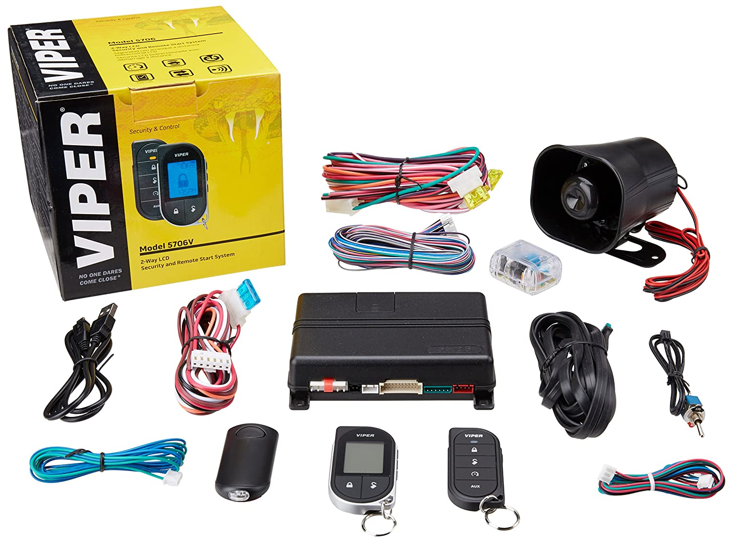 amazon com: viper 5706v 2-way car security with remote start system: cell  phones & accessories