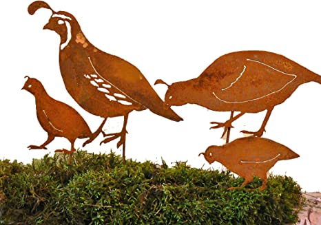 Ca Quail Family Stake Set Bird Silhouette Amazon Ca Patio Lawn Garden