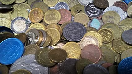 Amazon com: 50 Mixed ASSOTMENT of Old Tokens and World Coins,Arcade