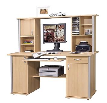 Schreibtisch Mit Aufsatz Buche Oder Kernnussbaumschwarz
