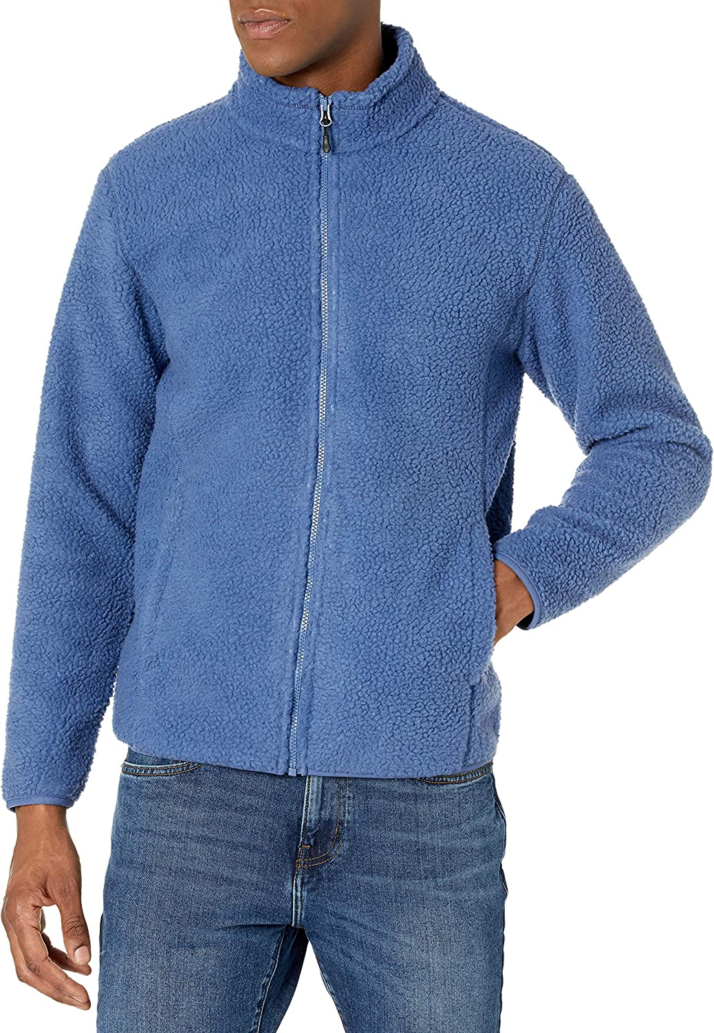Amazon Essentials Men's Sherpa Full-Zip Fleece Jacket Online limited product Don't miss the campaign