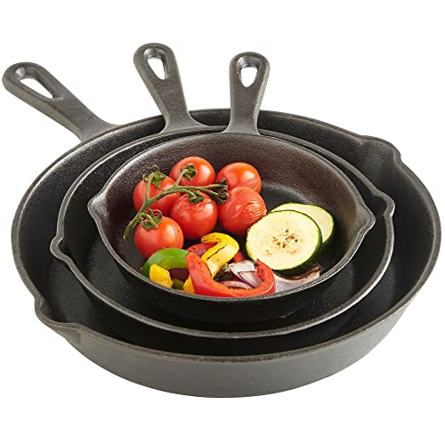 Vonshef Pre Seasoned Non-Stick Cast Iron Sauce Pan And Skillet Set