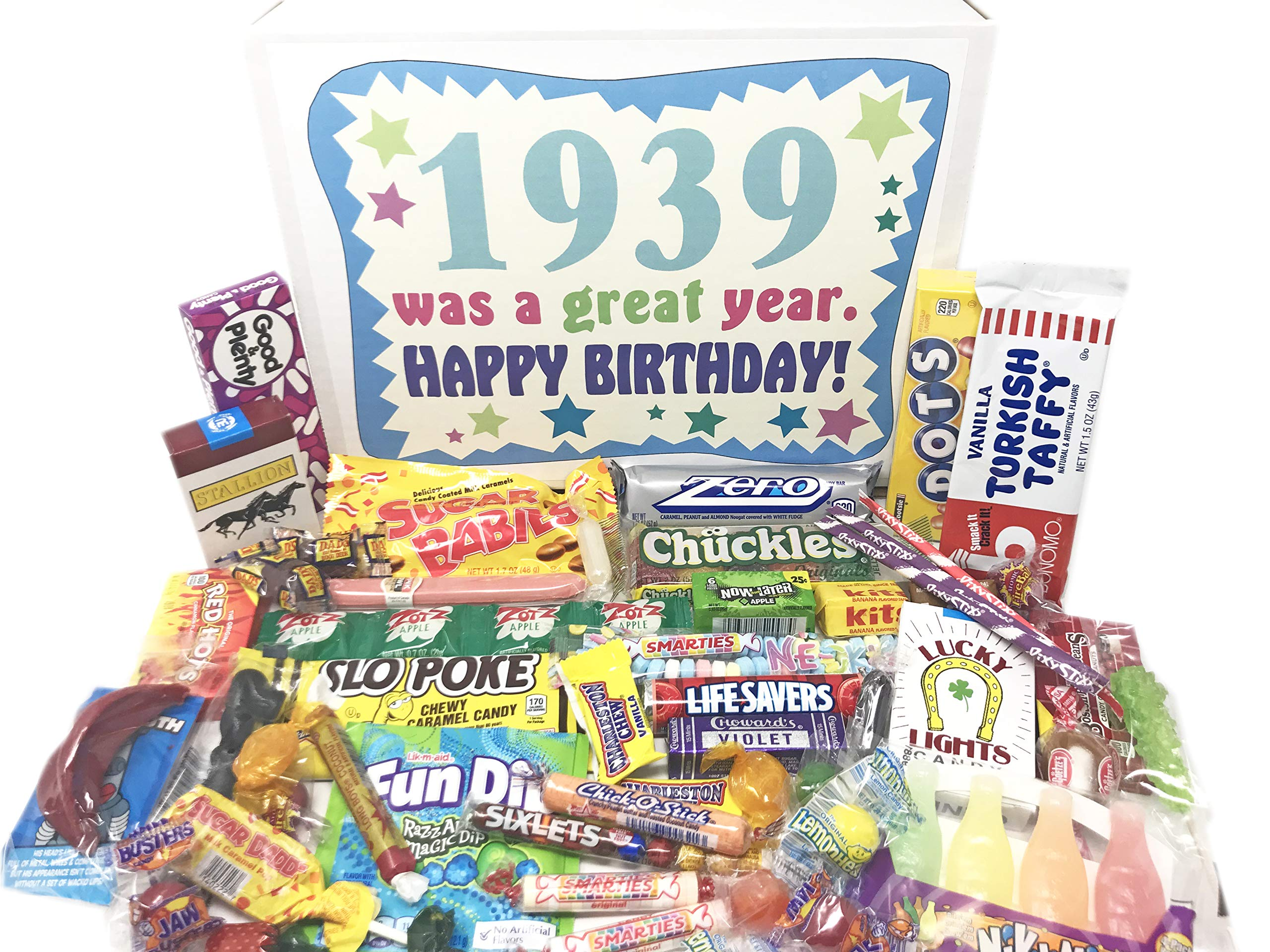 Woodstock Candy ~ 1939 BIRTHDAY GIFTS - 80th Birthday Candy Gift Box From Childhood - 80 Year Old Birthday Gifts - 80th Birthday Candy Gifts for 80 Year Old Man or Woman Born 1939 by Woodstock Candy