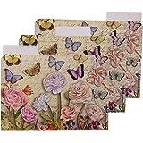 punch studio dancing butterflies decorative file folders set of 12