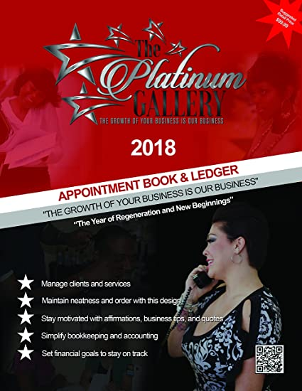 amazon com the platinum gallery 2018 appointment book and ledger