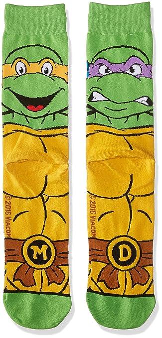 Odd Sox Mens (Knit), Retro Turtle, Sock Size:10-13/Shoe Size: 6-12 at Amazon Mens Clothing store: