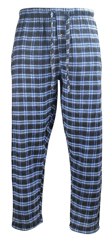 Profound Apparel SLEEPWEAR メンズ B077CGNJM9 XL|Black/Blue Plaid Black/Blue Plaid XL