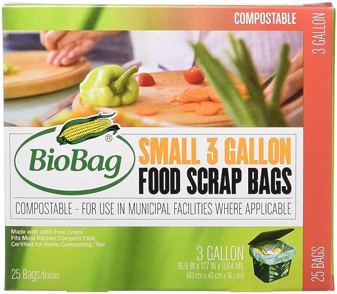 Amazon.com: Bolsas de basura BioBag, compostables, 3 galones ...