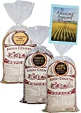 Amish Country Popcorn - 3 (1 lb. Bag Variety) with Recipe Guide - Small & Tender Baby White, Ladyfinger, and Purple Popcorn