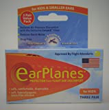 Original Children's EarPlanes® Ear Plugs Airplane Travel Ear Protection 3 Pair BONUS VALUE PACK