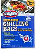 """Kingsford Extra Tough Aluminum Grill Bags, for Locking in Flavors & Easy Grill Clean Up, Recyclable & Disposable, 15.5"""" x 10"""", Pack of 4"""