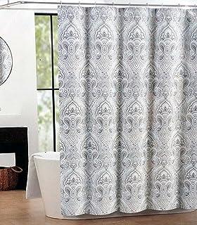 Tahari Fabric Shower Curtain Paisley Medallion Mackenzie Tan
