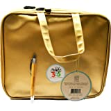 2 Pcs Bundle: me & my BIG ideas Create 365 Gold Storage Case Bag and Comes with a Laser Engraved Kemah Bamboo Pen