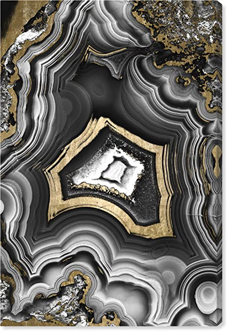 Amazon Com The Oliver Gal Artist Co Adoregeo Modern Premium Canvas Print The Abstract Wall Art Decor Collection 10 X 15 Black And Gold Posters Prints