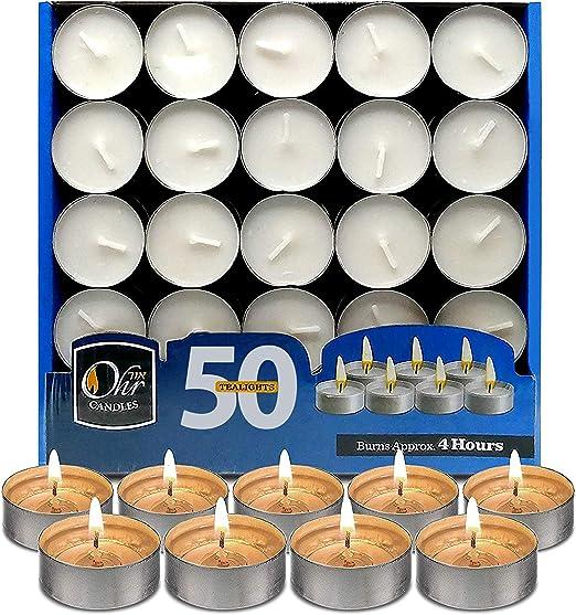 Longue Combustion - Lot de 50 Bougies Chauffe-Plat Light a Lantern 8 heure