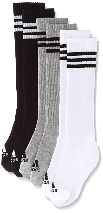 Adidas 3S Knee HC 3Pp Calcetines, Hombre, Blanco (White/Black / Medium