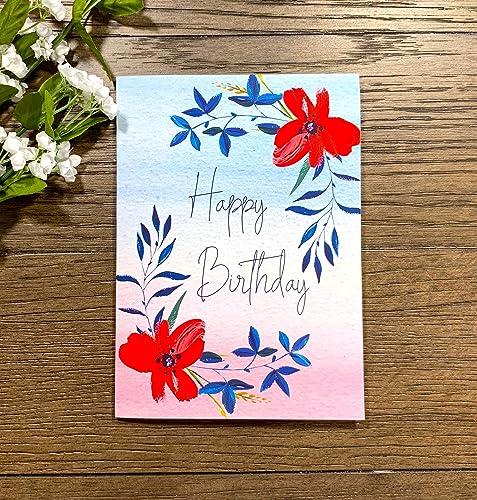 Amazon Com Pretty Flower Best Wishes Happy Birthday