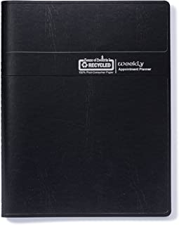 product image for House of Doolittle 2019 Weekly Planner Calendar, 7 Day, Black Cover, 8.5 x 11 Inches, January - December (HOD28402-19)
