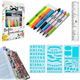 Mr. Pen- Bible Journaling Kit with Bible Highlighters and Pens No Bleed, Bible Tabs, Bible Stencils, Bible Ruler, Bible Marke