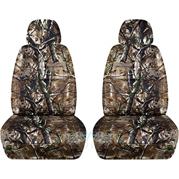 Amazon Camouflage Car Seat Covers W 2 Separate Headrest Covers