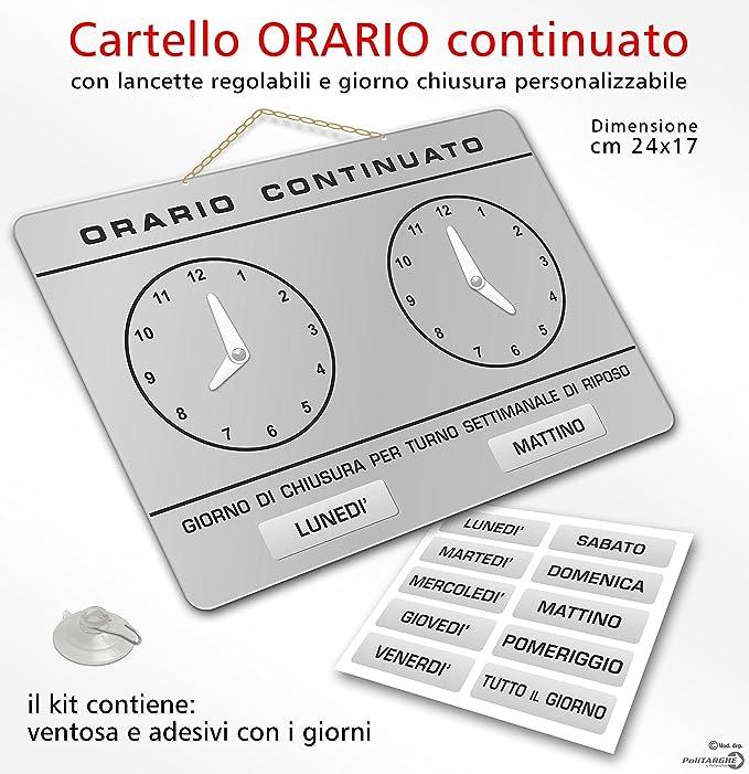Cartel con relojes para señalar el horario de apertura y ...