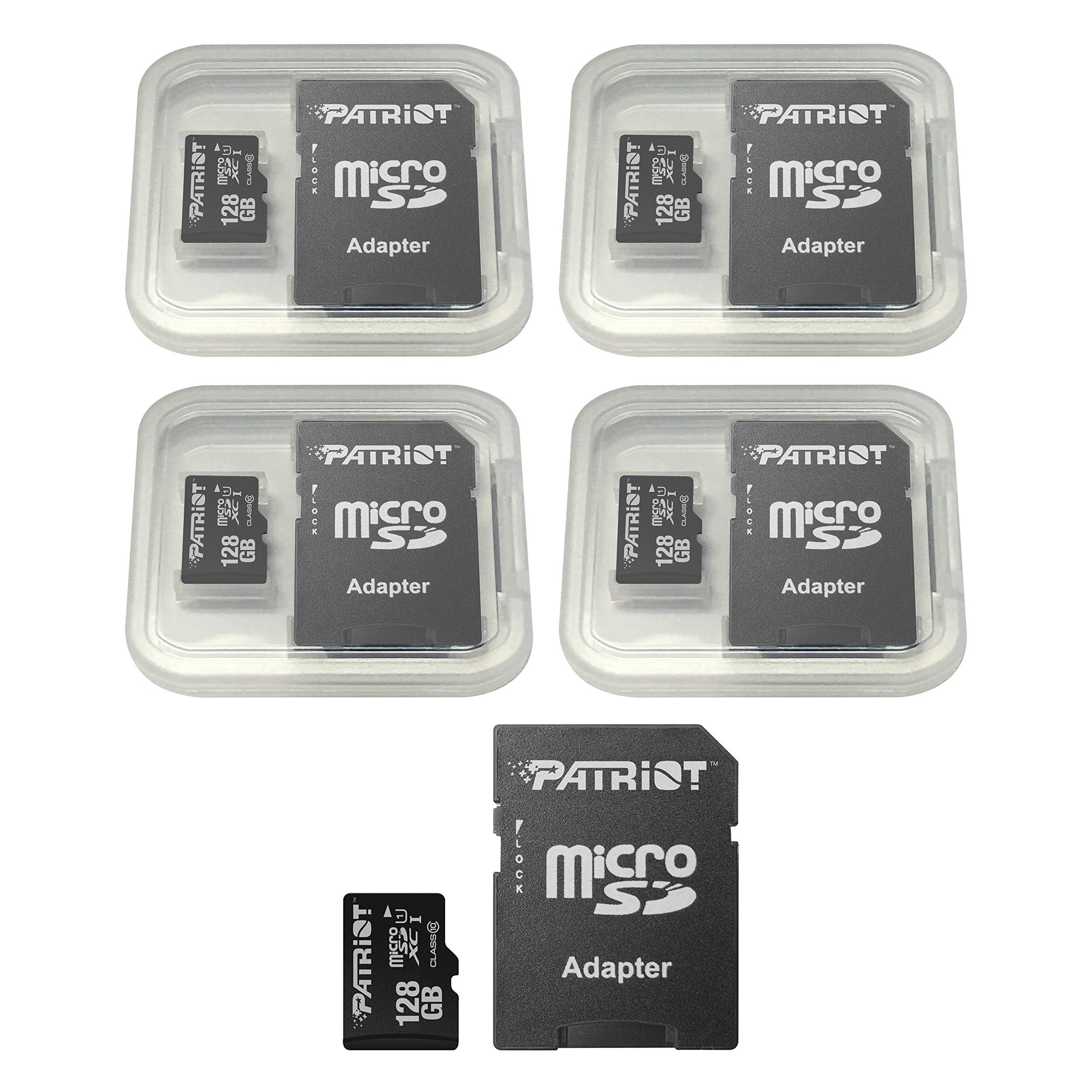 Patriot LX Series 128GB Micro SDXC - Class 10 UHS-I - 5 Pack