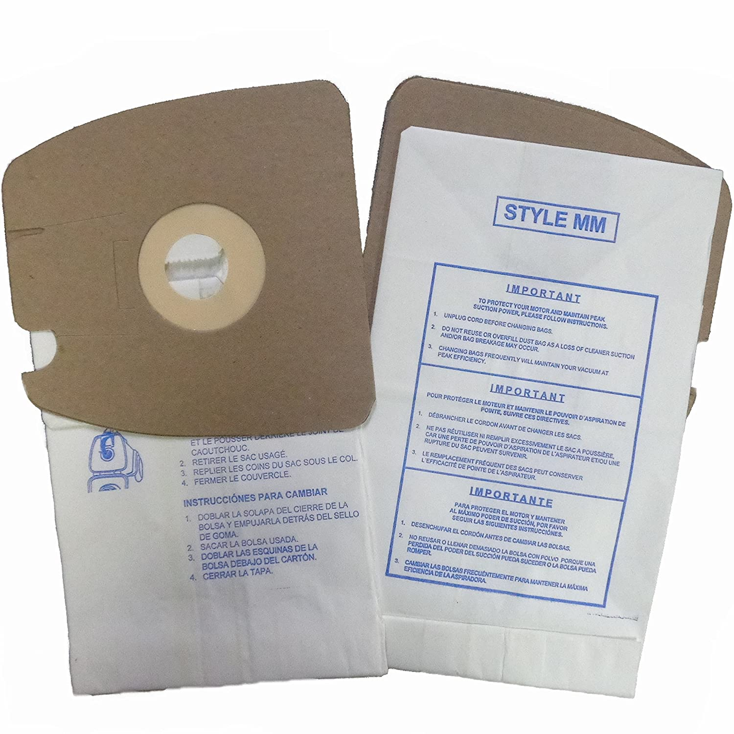 Amazon.com: Eureka Style MM Vacuum Bags Mighty Mite 3670 and ...