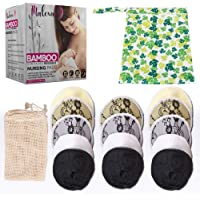 Malexa Nursing Pads 14 Pack - Organic Bamboo Reusable Breast Pads - Contoured Maternity Lace Pads - Washable, Super…