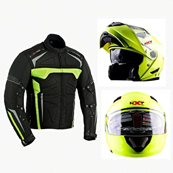 Bikerwear Chaqueta de motocicleta con casco de moto de alta calidad, para todo tipo de