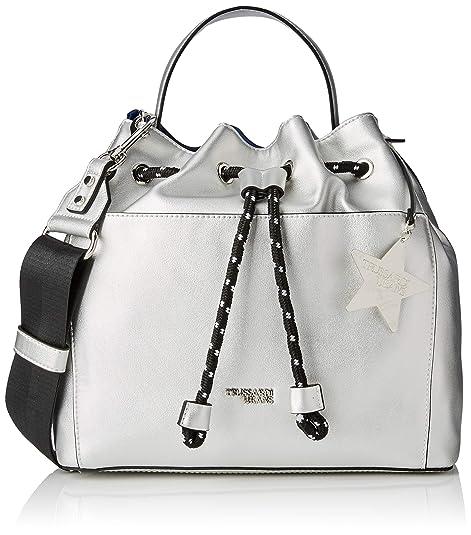 a3f8edd811 Trussardi Jeans T-Easy Bucket Charm Star Logo, Borsa a Secchiello Donna,  Argento